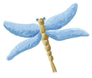 Libélula azul linda Imágenes de archivo libres de regalías