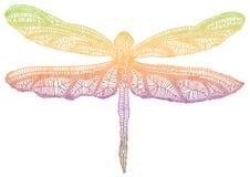 Libélula colorida stock de ilustración