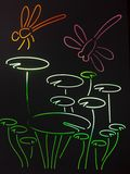 Libélula colorida del vitral Imagenes de archivo