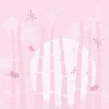 Libélula no bambu Ilustração Royalty Free