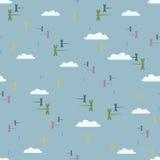 Libélulas del modelo en el cielo Foto de archivo libre de regalías