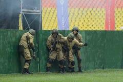 Libération démonstrative de la police anti-émeute d'otages Photo libre de droits