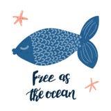Libérez comme affiche d'océan Images libres de droits