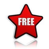 Libérez en étoile rouge illustration libre de droits