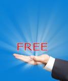 Libérez sur la main d'affaires Images libres de droits