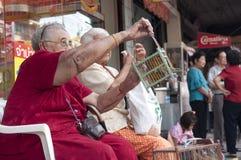 Libérez un oiseau (pour le mérite) en an neuf chinois Photo stock