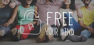 Libérez votre concept d'attitude de conscience d'esprit photos libres de droits