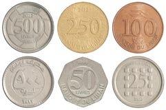 Libańczyk monety ustawiać fotografia stock
