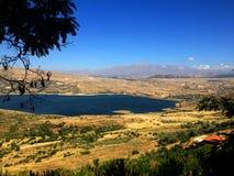 Libanees landschap, de Vallei Bekaa-van Valleibeqaa (Bekaa), Baalbeck, Libanon stock foto