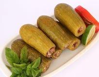 Libanees voedsel - gekookte courgette Stock Afbeelding