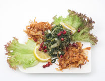 Libanees voedsel van Gekookt hindbh met gebraden ui Royalty-vrije Stock Fotografie