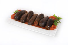 Libanees voedsel van gevulde courgette en rijst Stock Foto's