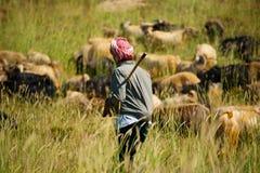 Libanese Goatherder Stock Foto's