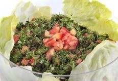Libanese salade - tabouleh (geïsoleerd) Stock Foto's