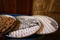 Libanesische Bonbons im souk Lizenzfreie Stockfotografie