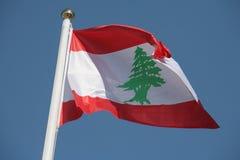 Libanesische Markierungsfahne Stockfotos