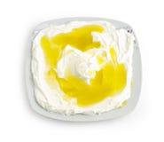 Libanesische Nahrung des Labneh Joghurtkäses Lizenzfreies Stockbild
