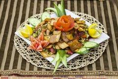 Libanesisches Salat ` Fattoush-` lizenzfreies stockfoto
