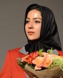 Libanesisk aktris Sara Nazparvarsufiani Arkivfoton