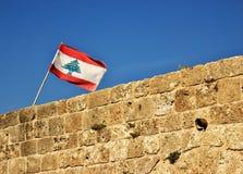 Libanesisk flagga Fotografering för Bildbyråer