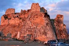 Libanon; Februari 12th, 2011 - fördärvar av den Beaufort slotten i Libanon Royaltyfri Foto