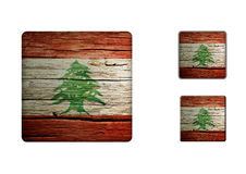 Libanon flaggaknappar Royaltyfri Bild