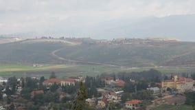 Libanon och Israel Border sikt från nord av Israel arkivfilmer