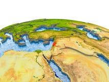 Libanon op model van Aarde Stock Afbeeldingen