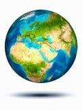Libanon ter wereld met witte achtergrond Royalty-vrije Stock Afbeelding