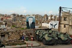 Libanon, Tripoli; 13 februari 2011 - Straat in Tripolis-stad Stock Foto