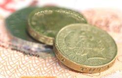 Libbra britannica con le banconote Immagini Stock Libere da Diritti