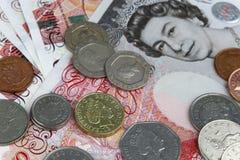 Libbre britanniche dei soldi Fotografie Stock