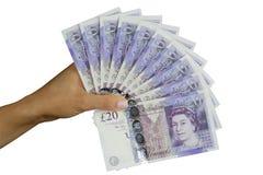 Libbre britanniche dei soldi BRITANNICI Fotografie Stock Libere da Diritti