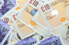 Libbre britanniche di banconote Fotografia Stock Libera da Diritti