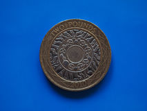 2 libbre di moneta, Regno Unito Fotografia Stock Libera da Diritti