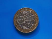 2 libbre di moneta, Regno Unito Fotografie Stock Libere da Diritti