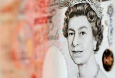 Libbre di nota - £50 Fotografia Stock