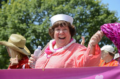 Libby Davies an der Vancouver-Stolz-Parade Lizenzfreies Stockbild