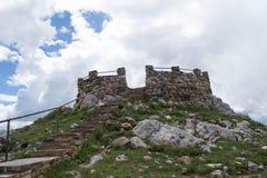 Libby mieszkań obserwacji wierza w Śnieżnych pasmo górach, Wyoming zdjęcia stock