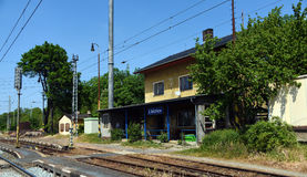 Libechov station in central Bohemia. In spring time Stock Images