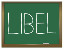 Libel concept. Royalty Free Stock Photography