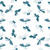 Libel Ontwerp van verpakkingsdocument, behang, naadloos patroon voor stoffen vector illustratie