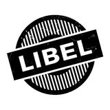 Libel rubber stamp. Grunge design with dust scratches. Effects can be easily removed for a clean, crisp look. Color is easily changed Royalty Free Stock Image