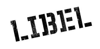 Libel rubber stamp. Grunge design with dust scratches. Effects can be easily removed for a clean, crisp look. Color is easily changed Stock Photo