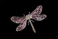 Libelle-Schmucksachen getrennt auf Schwarzem Lizenzfreies Stockfoto