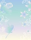 Libellen u. Blumen-Papier Lizenzfreie Stockfotografie