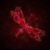 Libellula astratta Fotografia Stock Libera da Diritti