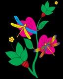 Libellula e fiore Fotografie Stock