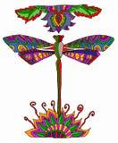 Libellula multicolore Fotografie Stock