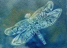 Libellule. Aquarelle illustration de vecteur